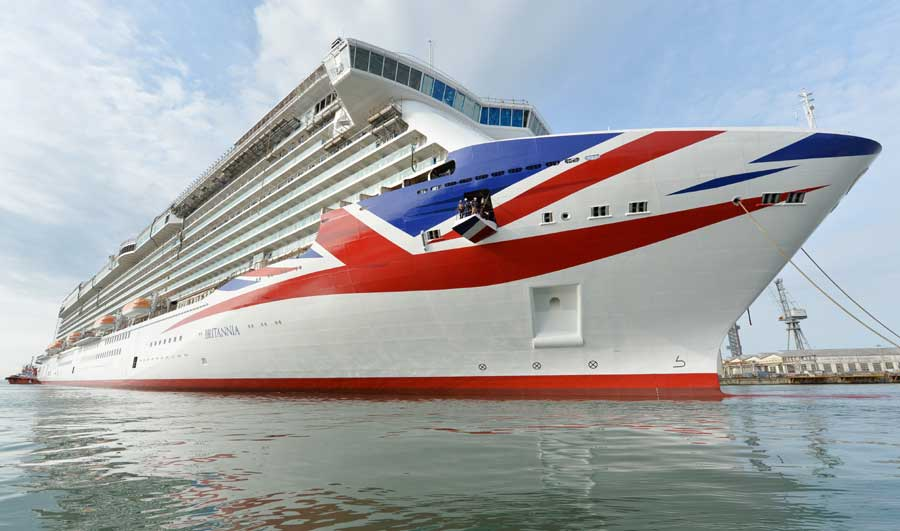 New P Amp O Britannia Livery Photos Released From Italian Shipyard