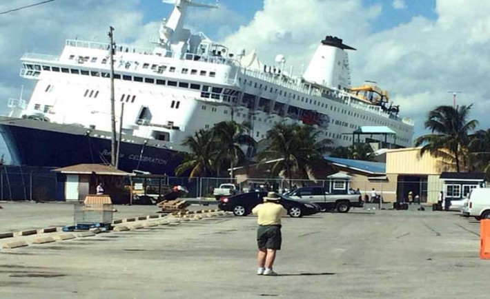 Cruise Ship Damaged And Runs Aground In Freeport Bahamas
