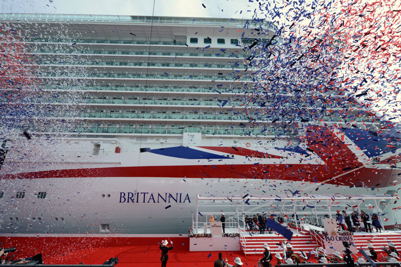 P&O Britannia Naming Ceremony