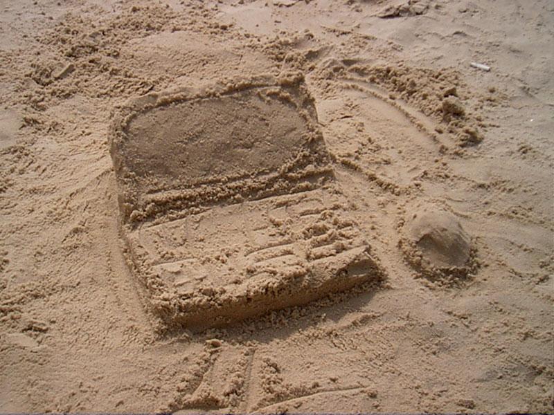 Sand Laptop