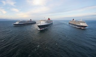 Cunard's three Queen (PRNewsFoto/Cunard)