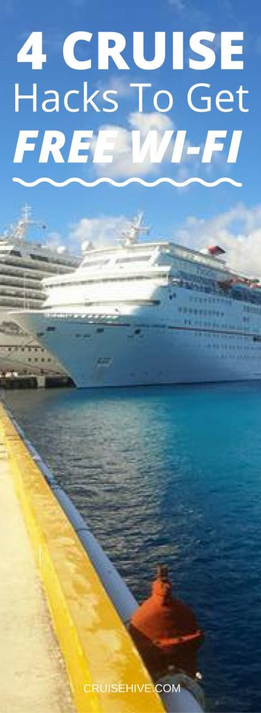 Cruise Hacks To Get Free WiFi During Your Voyage - Cruise ships with wifi