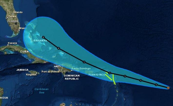 Tropical Storm Erika To Hit Eastern Caribbean Cruise Ports