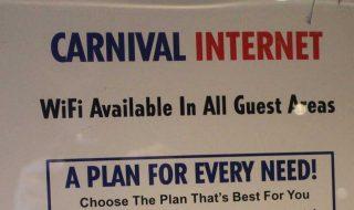 Carnival Cruise Internet