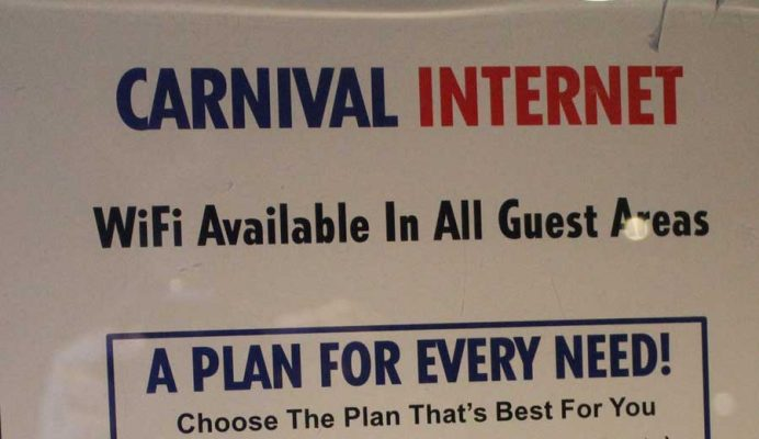 Carnival Cruise Internet