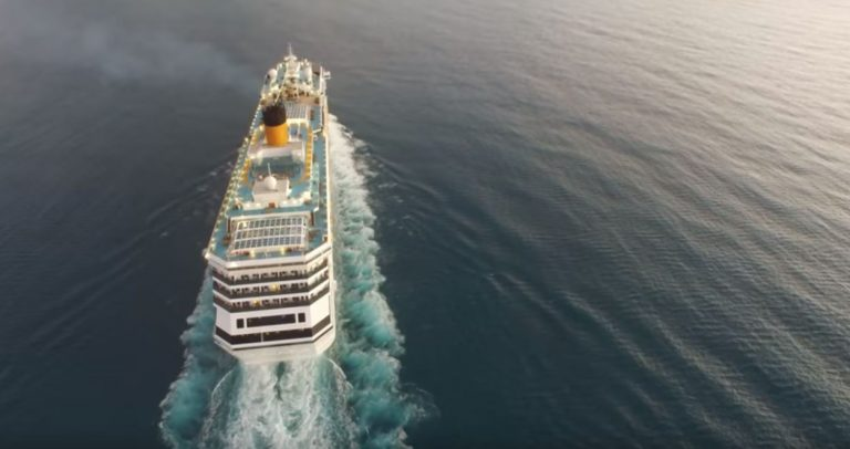 This Drone Video of a Cruise Ship Needs No Explanation