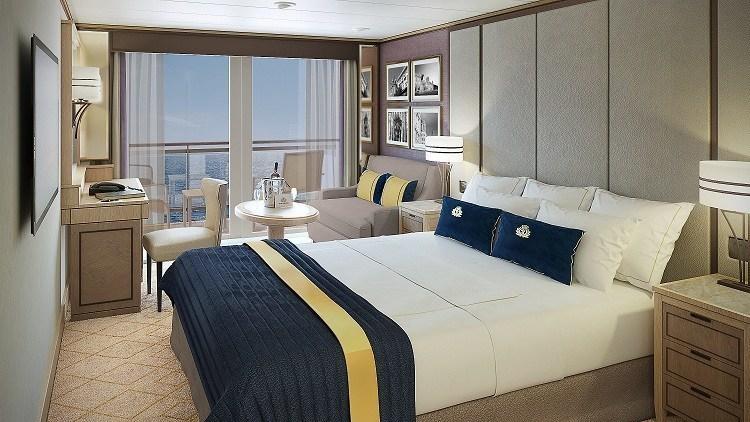 Britannia Club stateroom rendering (PRNewsFoto/Cunard)