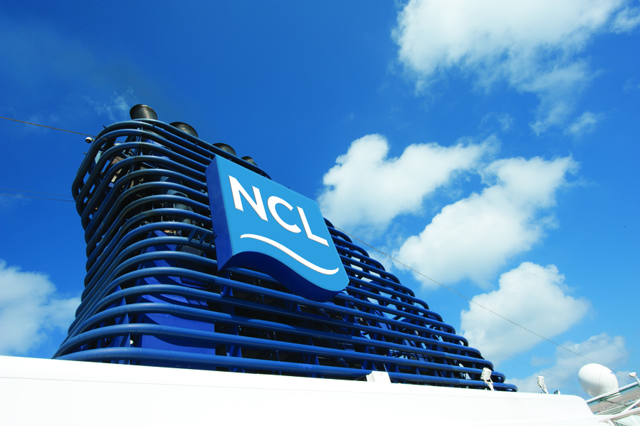 NCL Cruise Ship Funnel
