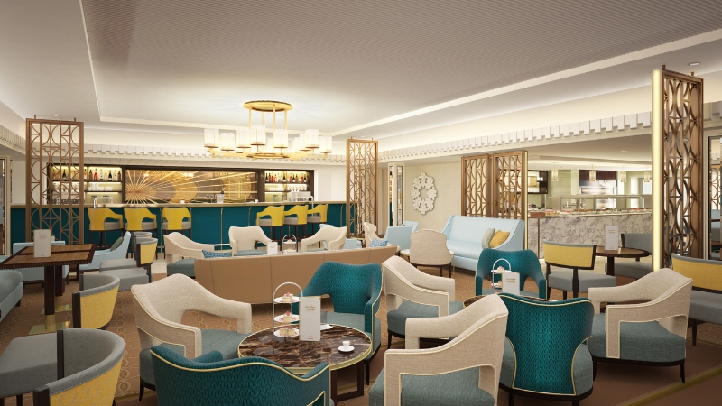 New Carinthia Lounge Rendering (By Cunard Line)