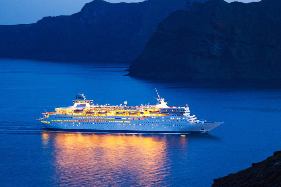 Mediterranean Cruise Ship Night
