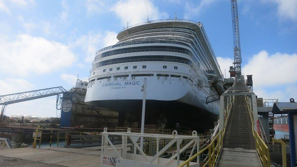New Carnival Magic Dry Dock Photos