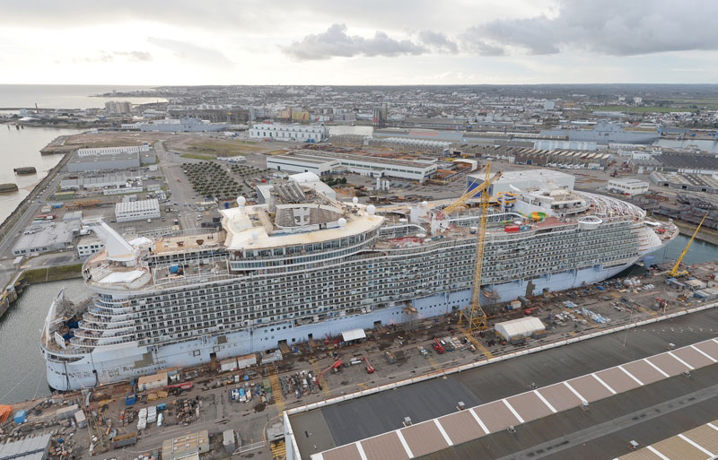Harmony Of The Seas In The Final Stages Of Fitting Out