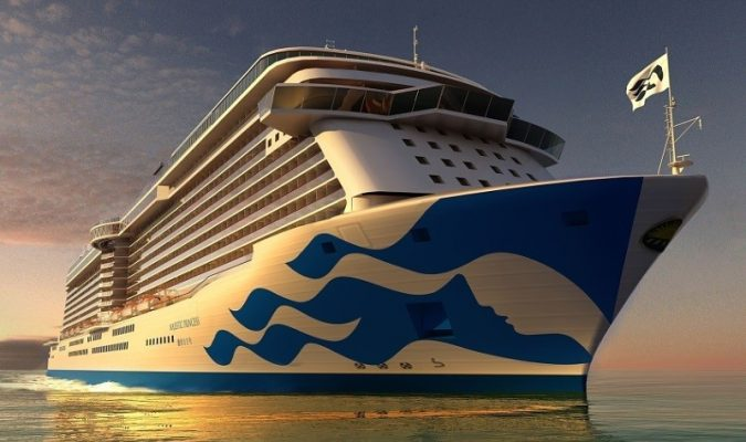 Princess Cruises debuts new livery design on Majestic Princess. (PRNewsFoto/Princess Cruises)