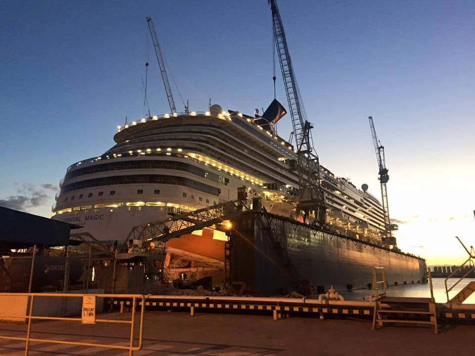 Carnival Magic Taking Shape At Dry Dock
