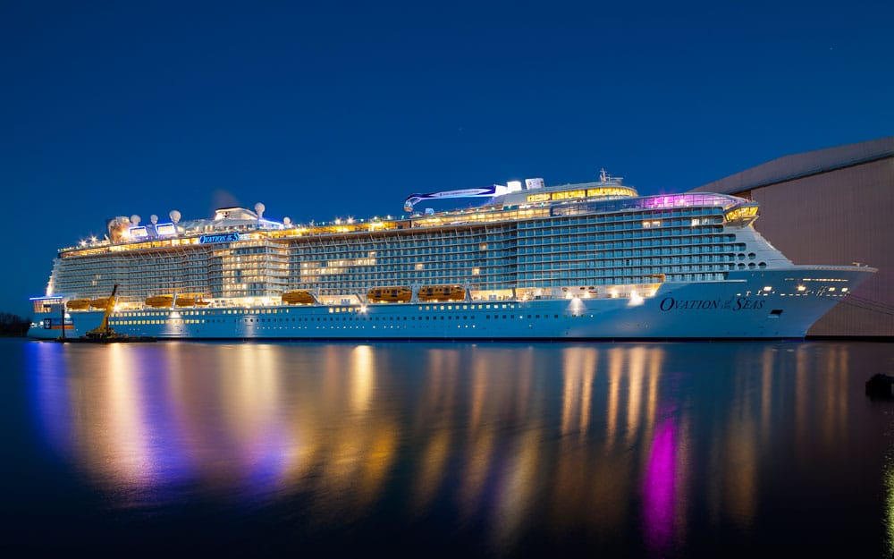 Royal Caribbean S Third Quantum Class Cruise Ship Shines