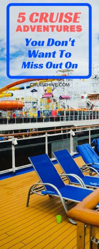 Take a look at 5 cruise ship adventures which you could enjoy during your next cruise vacation. We've got 5 worth trying out depending on the ship you sail on.