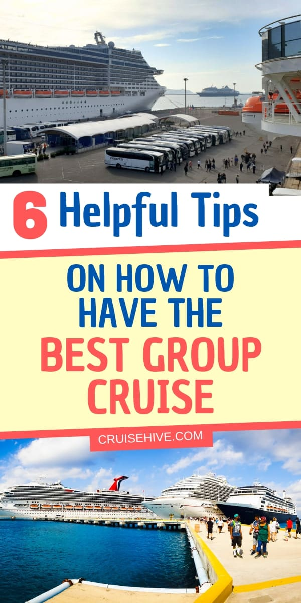 Travel tips for making sure you have the best group cruise vacation. Covering the planning and during the cruise phase for groups such as a family reunion and more.