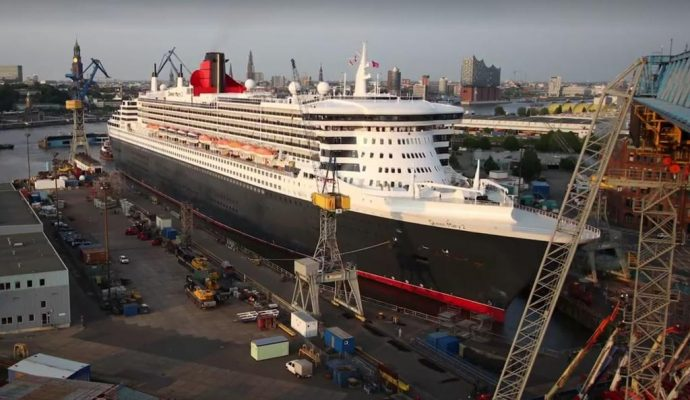 Queen Mary 2 Dry Dock