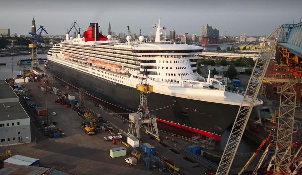 Queen Mary 2 Dry Dock