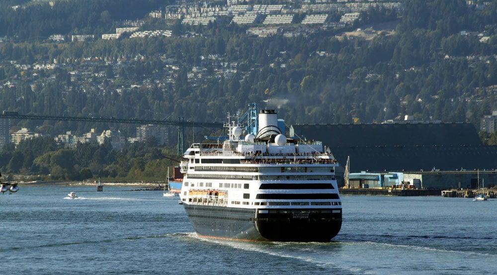 Dead Whale Emerges On Cruise Ship Bow - Zaandam ship