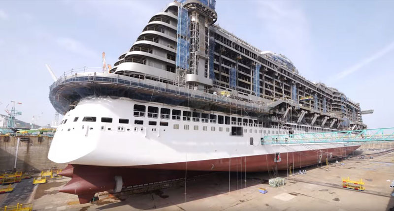 Aida Cruise Ship Construction Time Lapse