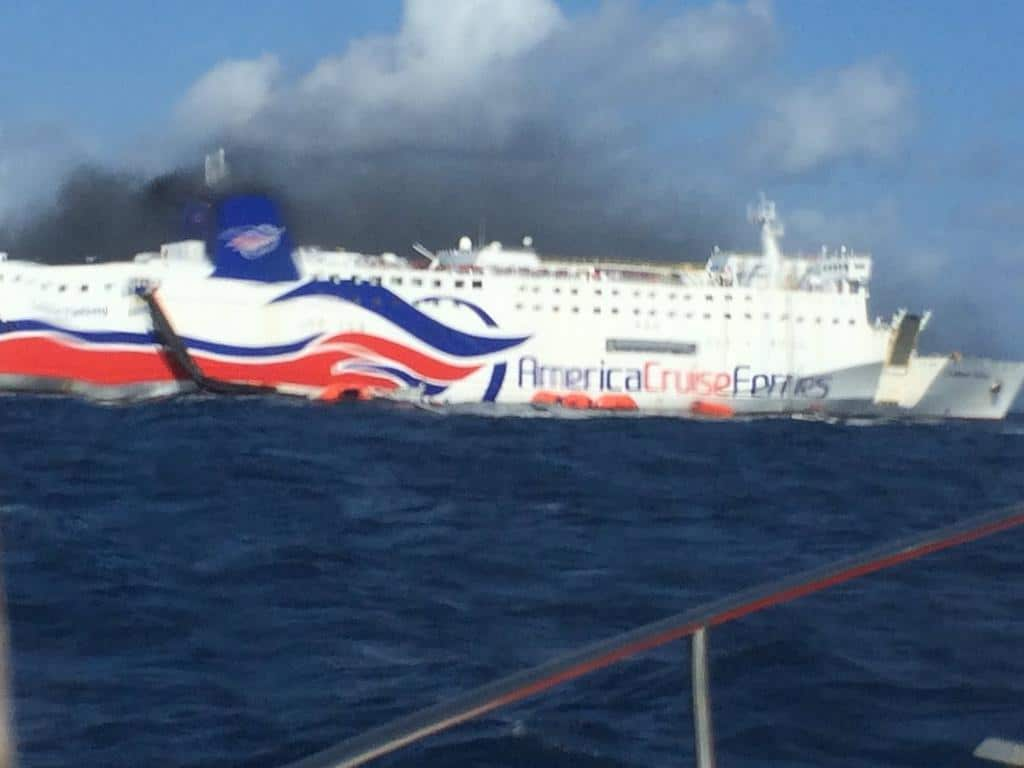 Fire Spreads On Ship As Over 500 Passengers Evacuated