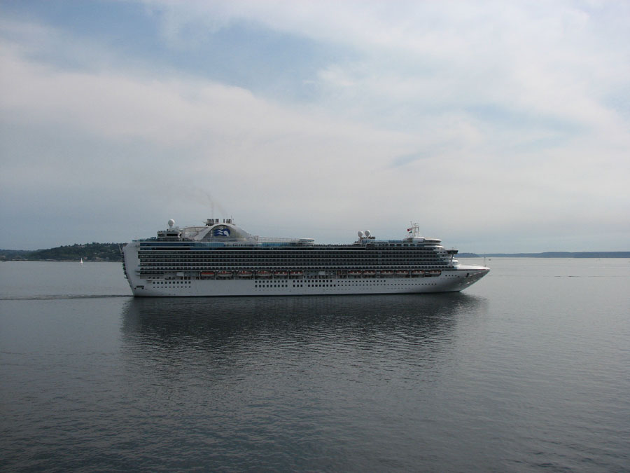Crew Member Airlifted From Princess Cruise Ship - How many crew members on a cruise ship