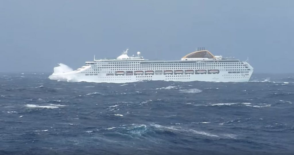 What To Do Onboard A Cruise Ship In Bad Weather - Cruise ship in rough waters