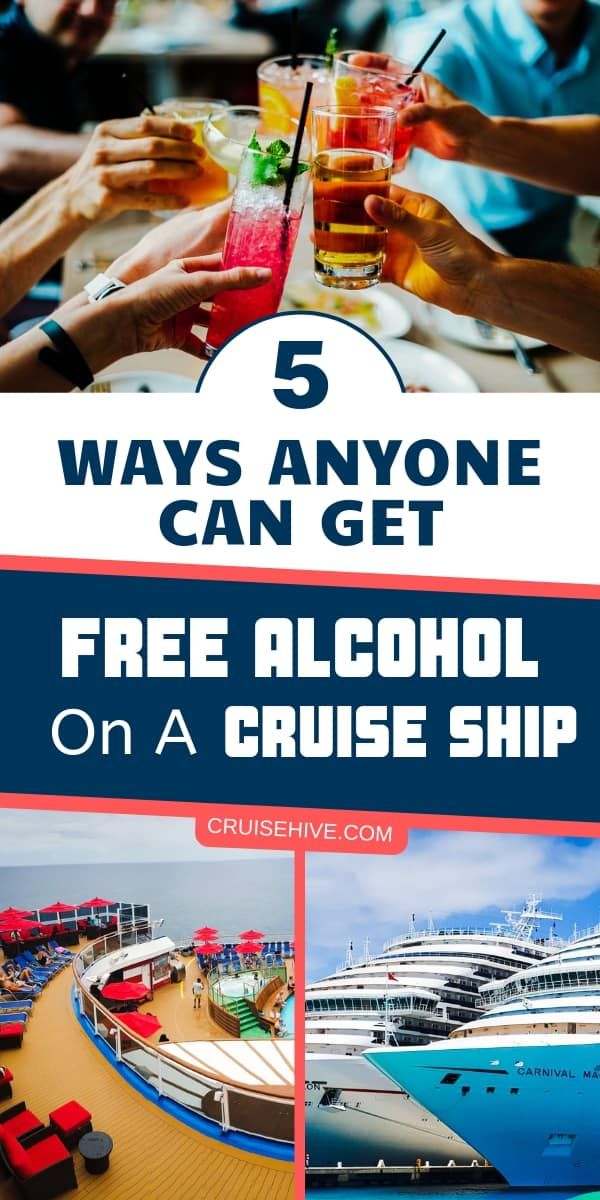 Cruise tips on how to get free alcohol during a cruise vacation.