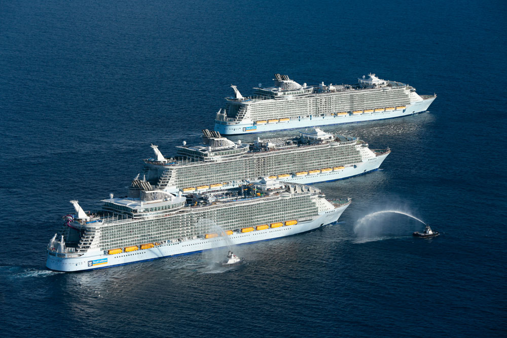 History Is Made As 3 Of The World39s Largest Cruise Ships