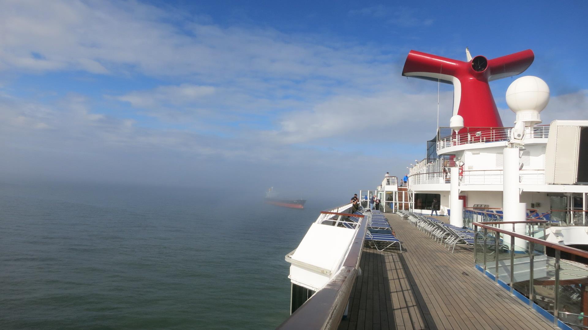 Fog Prevents Carnival Valor Arriving Back Into Galveston