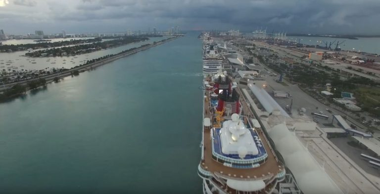 Watch Cruise Ships Depart Port Miami Live
