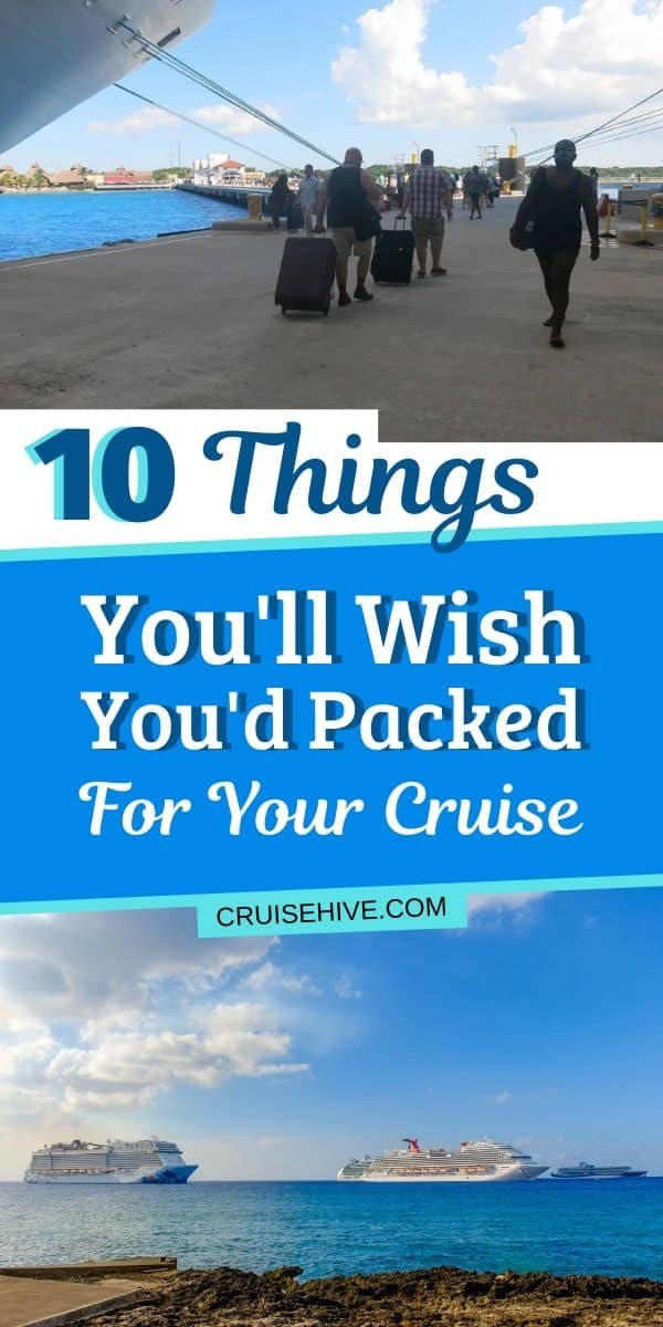 10 Things You'll Wish You'd Packed for Your Cruise
