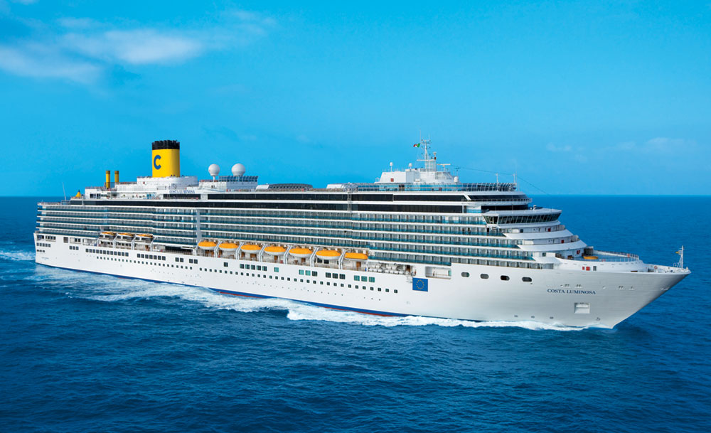 Costa luminosa sets sail on around the world cruise for Around the world cruise ship