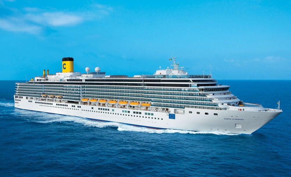 Costa luminosa sets sail on around the world cruise for Around the world cruise