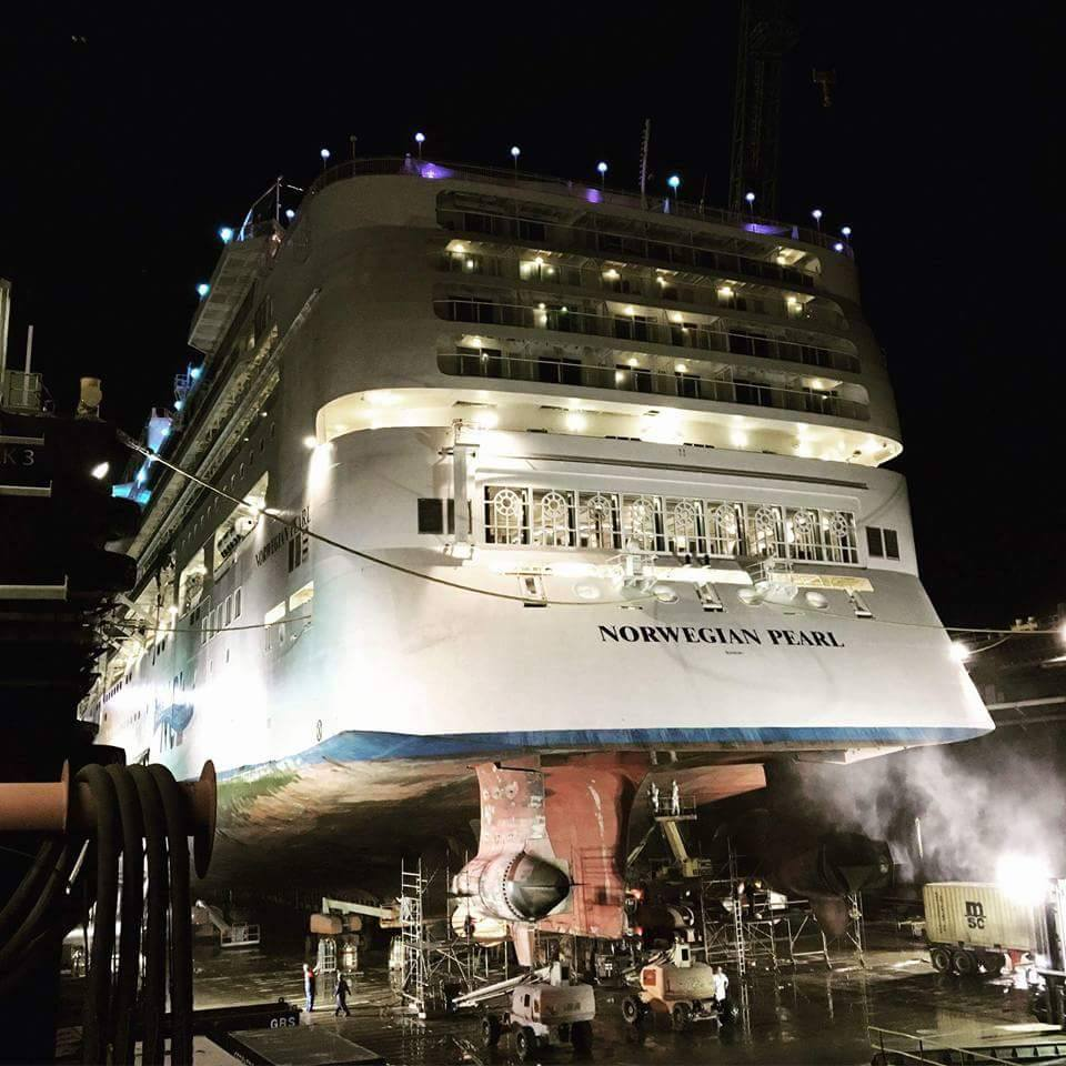 Behind The Scene Photos Of Norwegian Pearls Dry Dock