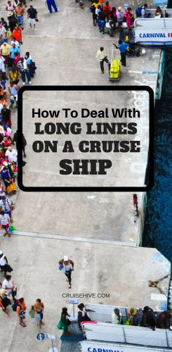Long Lines On A Cruise Ship
