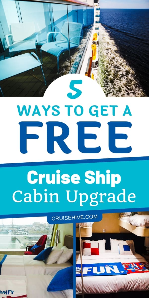 Follow these cruise tips on how you can get a free cruise ship cabin upgrade.