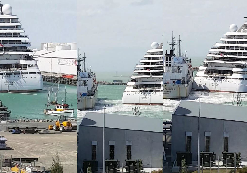 Cruise Ship Collides With Vessel in Timaru Port