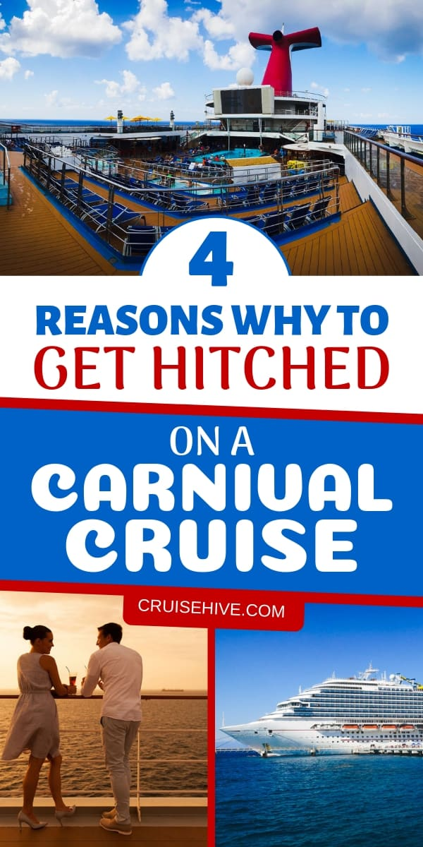 When it comes to weddings, a honeymoon or even valentines day then a Carnival cruise might just be the way to go. Find out the reasons for getting hitched on the cruise ship.