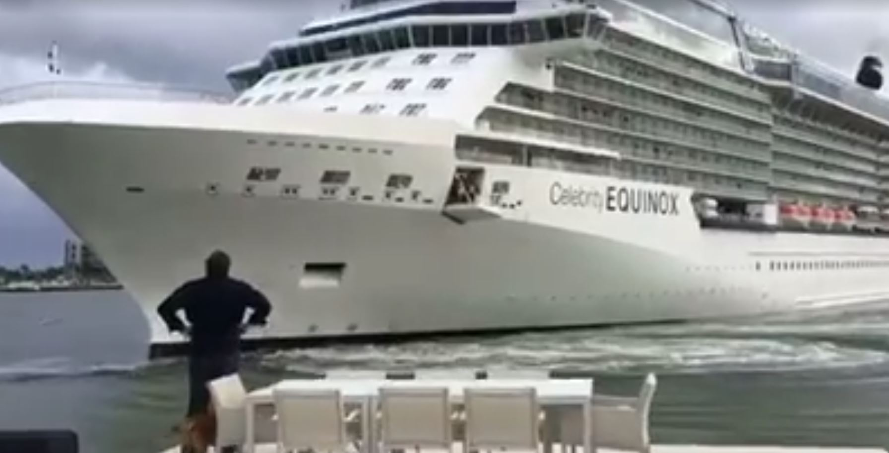 Celebrity Cruise Ship Drifts Too Close To Port Everglades House