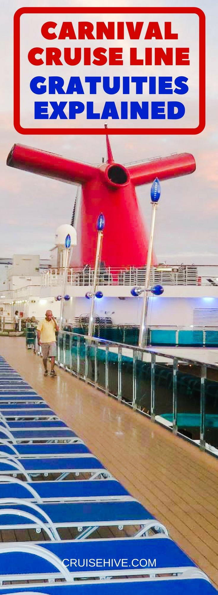 Carnival Cruise Line Gratuities