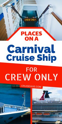 "Ever been on a cruise vacation and wondered where the crew hang out? Well we're taking you into those ""Crew Only"" areas on a Carnival cruise ship."