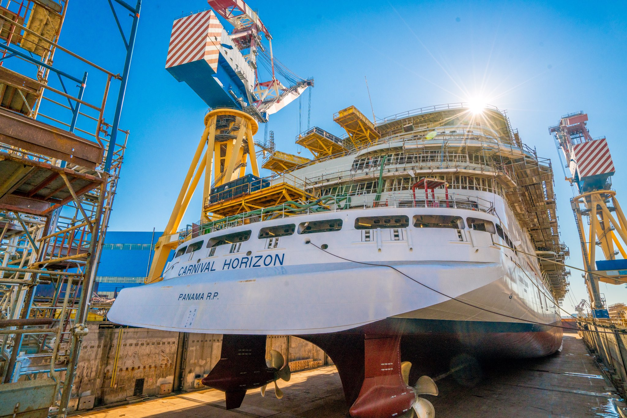 Carnival Horizon Moves To Next Phase Of Construction