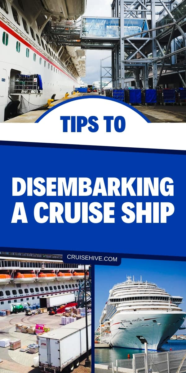 Cruise tips for disembarking a cruise ship. Covering all aspects of leaving the ship including luggage and filling out forms when the vacation ends.