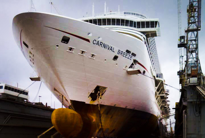 A Closer Look At Carnival Breeze During Dry Dock