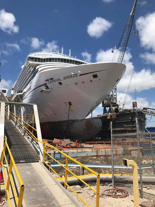 Carnival Cruise Ship In Final Stages Of Major Dry Dock