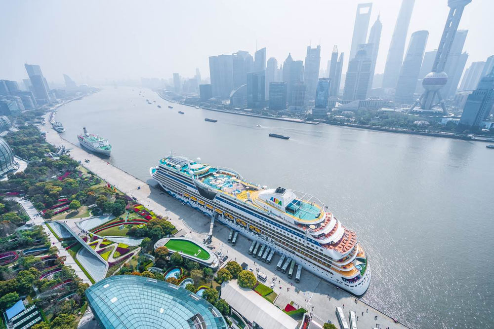 Cruise Ship Is First In Fleet To Call In Shanghai China