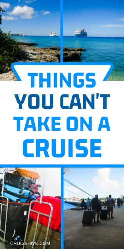 Planning a cruise vacation? Here are things you can't pack and take on the ship.