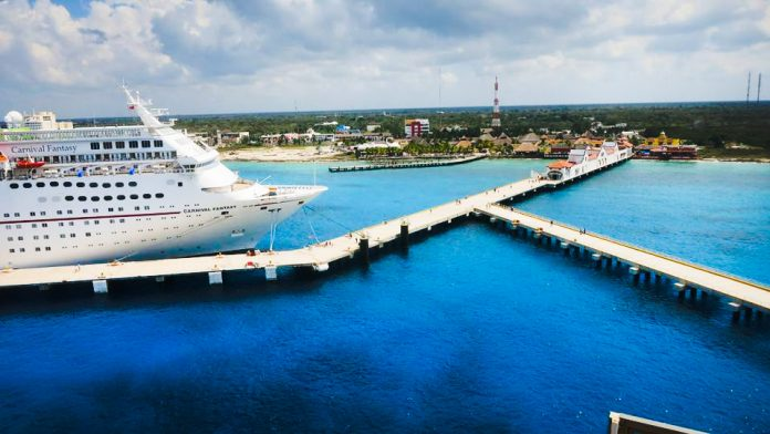 Docked Cruise Ships